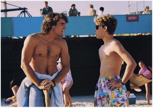 Jason Patrick and Corey Haim in The Lost Boys