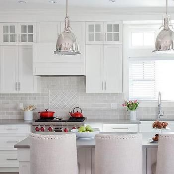 Gray Diamond Pattern Cooktop Backsplash Tiles