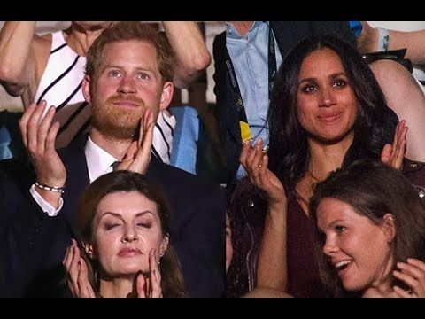 Meghan Markle attends first official engagement with Harry at Invictus G...