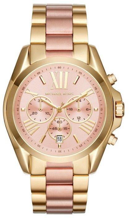 Michael Kors Armbanduhr - Ladies Bradshaw Chronograph Gold-Tone - in gold - Armbanduhr für Damen Mode Frauen Schmuck