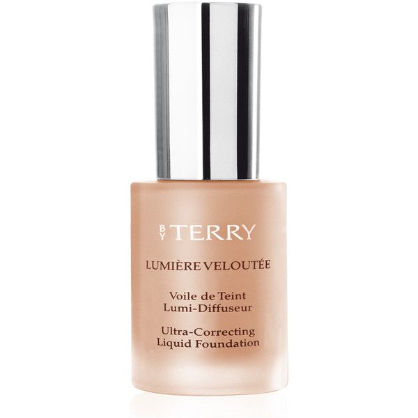 BY TERRY Ultra-Correcting Liquid Foundation Dark Complexion ($59) ❤ liked on Polyvore featuring beauty products, makeup, face makeup, foundation, no color, by terry, liquid foundation and by terry foundation