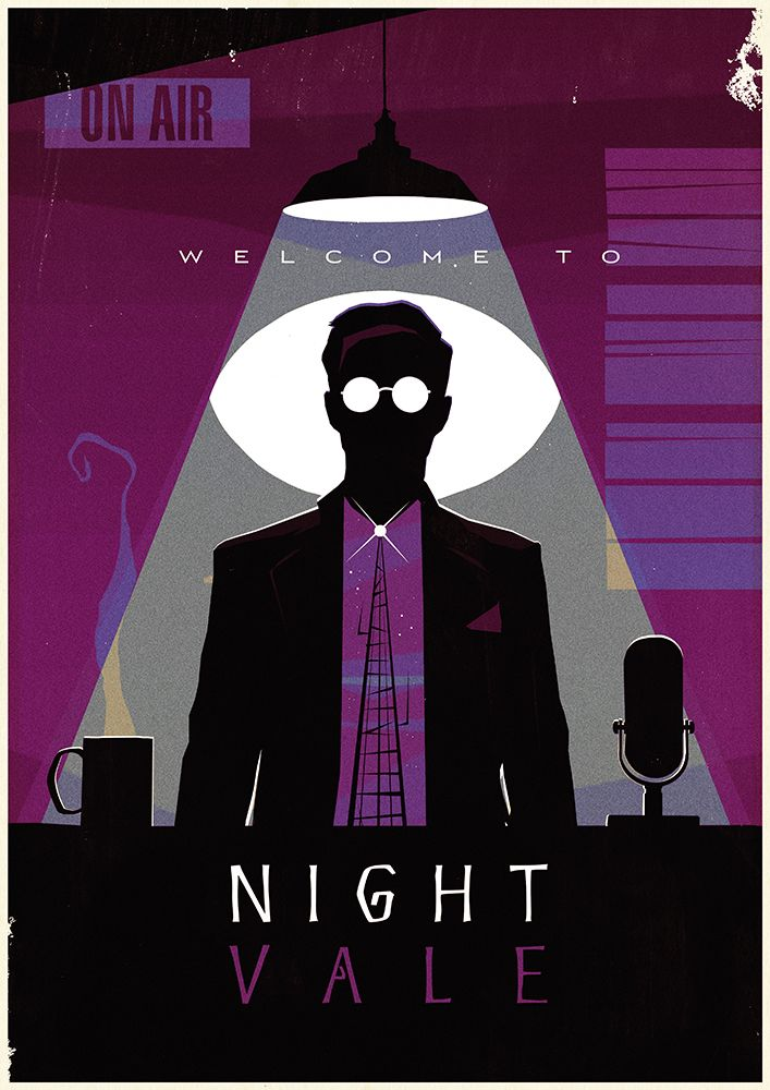 "stuart-manning: ""Just for fun, a new poster illustration inspired by one of my favourite podcasts, Welcome to Night Vale """