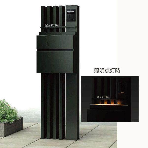 セット内容・本体:ルシアスポストユニットAS02型・ポスト:T10型(前入れ前出しタイプ)ダイヤルキー付・LED表札灯寸法地面からの高さH=1400・埋め込み350mm本体:幅390・奥行120mmポスト:幅390・高さ390・奥行150mm施工方法柱を地中埋込コンクリート基礎で固定照明・インターホンは配線工事が必要となりますので、あらかじめ電気工事業者様と打合せを行ってください。材質本体:アルミ形材ポスト:上・下扉=アルミ形材・本体=ZAMメツキ鋼板※表札、インターホンは付属していませんので付属のアルファベットシールや市販品をご利用ください。【メーカー】YKK APエクステリア【送料】送料無料(※北海道・沖縄・離島は送料別途)【納期目安】受注生産(出荷まで約1〜2週間程度)※表札は製作のため別途納期の確認が必要です★表札をご希望の場合には、表札に印刷する文字(苗字等)・デザイン番号・バー色・文字色・ご希望の書体を備考欄に必ず記入して下さい