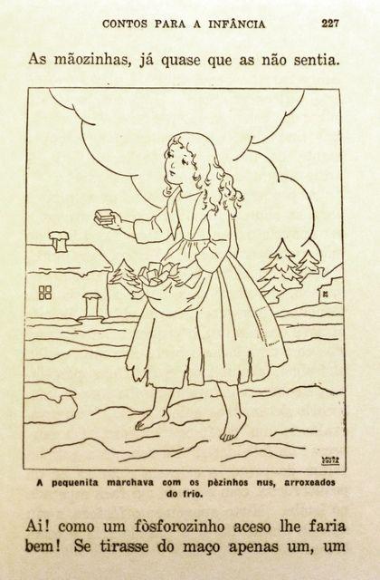 """Ilustração de Laura Costa_ conto """"A Rapariguinha e os Fósforos"""""""