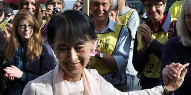 The Burmese opoosition leader and former prisoner of conscience is visiting Europe for the first time in  more than two decades.