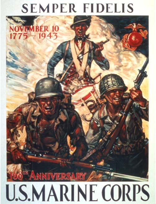 American WWII poster, U. S. Marine Corps