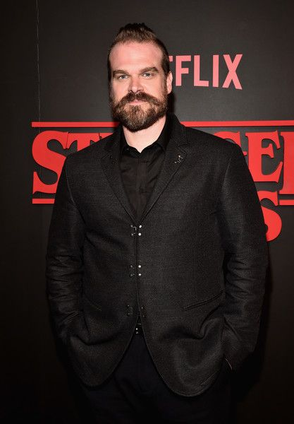 David Harbour attends the Premiere of Netflix's 'Stranger Things' at Mack Sennett Studios on July 11, 2016 in Los Angeles, California. - Premiere Of Netflix's 'Stranger Things'