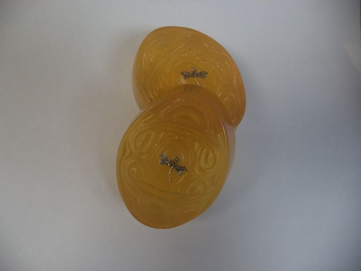 Dragonfly in Amber glycerin soap by skinsationssoap on Etsy
