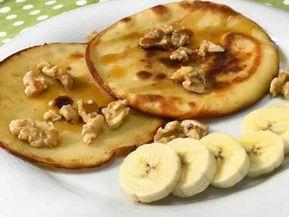 Receta de Tortitas de Plátano y Yogur . Divina Cocina