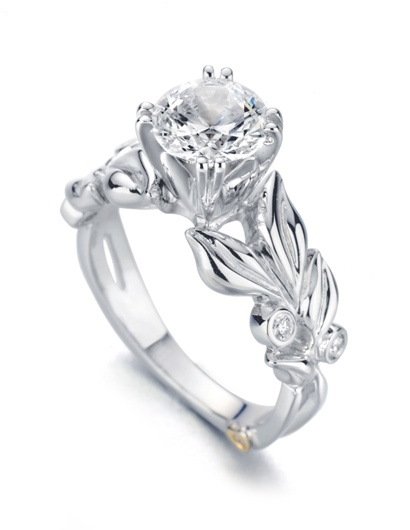 nature inspired engagement ring 2 - Nature Inspired Wedding Rings