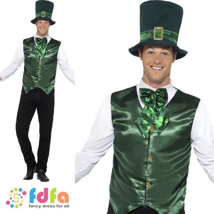 LUCKY LAD IRISH ST PATRICKS DAY LEPRECHAUN mens fancy dress costume  | eBay
