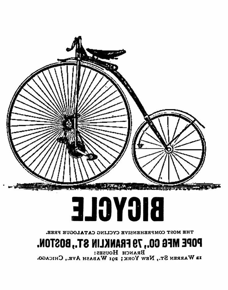 .Transfer printable vintage bicyclw