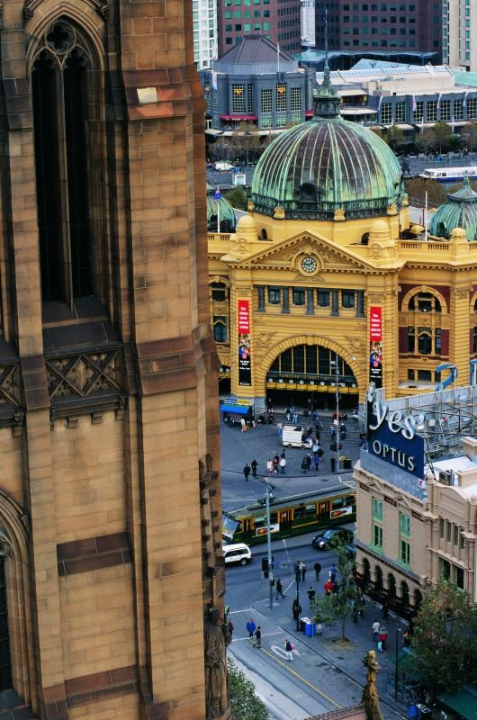 Some of my favourite icons in the city I call home now (Melbourne) - St Andrews Cathedral, Flinders Street Station, and South Bank.
