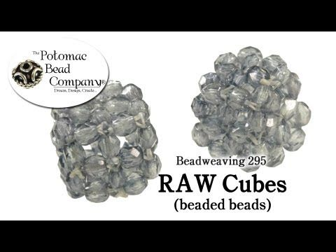 How to make RAW Cube Beads (Beadweaving 295) - YouTube