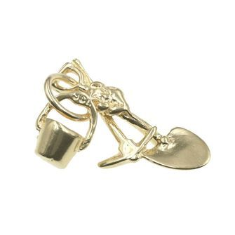 Bucket Pick and Shovel Charm - chr-0181