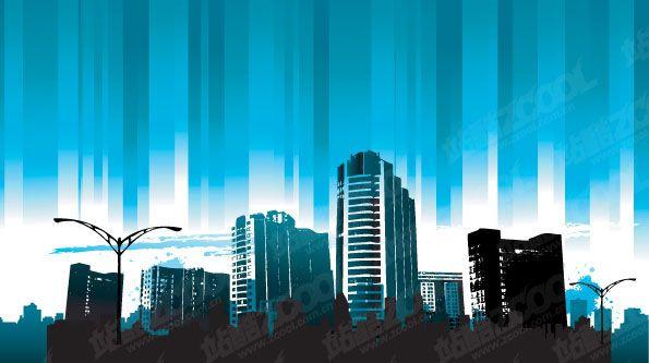Modern city skyscrapers design vector 09