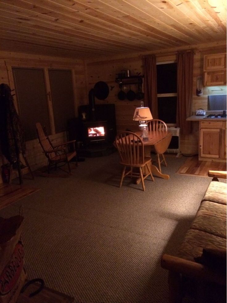 Had it built on site, not Amish, but the same barn. It's a 16X24. I have a solar panel for led lighting, wood burner, Mr. Heater for those not so cold days. Two 40 lb. propane tanks and stove top in the counter. 50 gal. Rain barrel with a RV pump on a sink inside. My son did the interior.