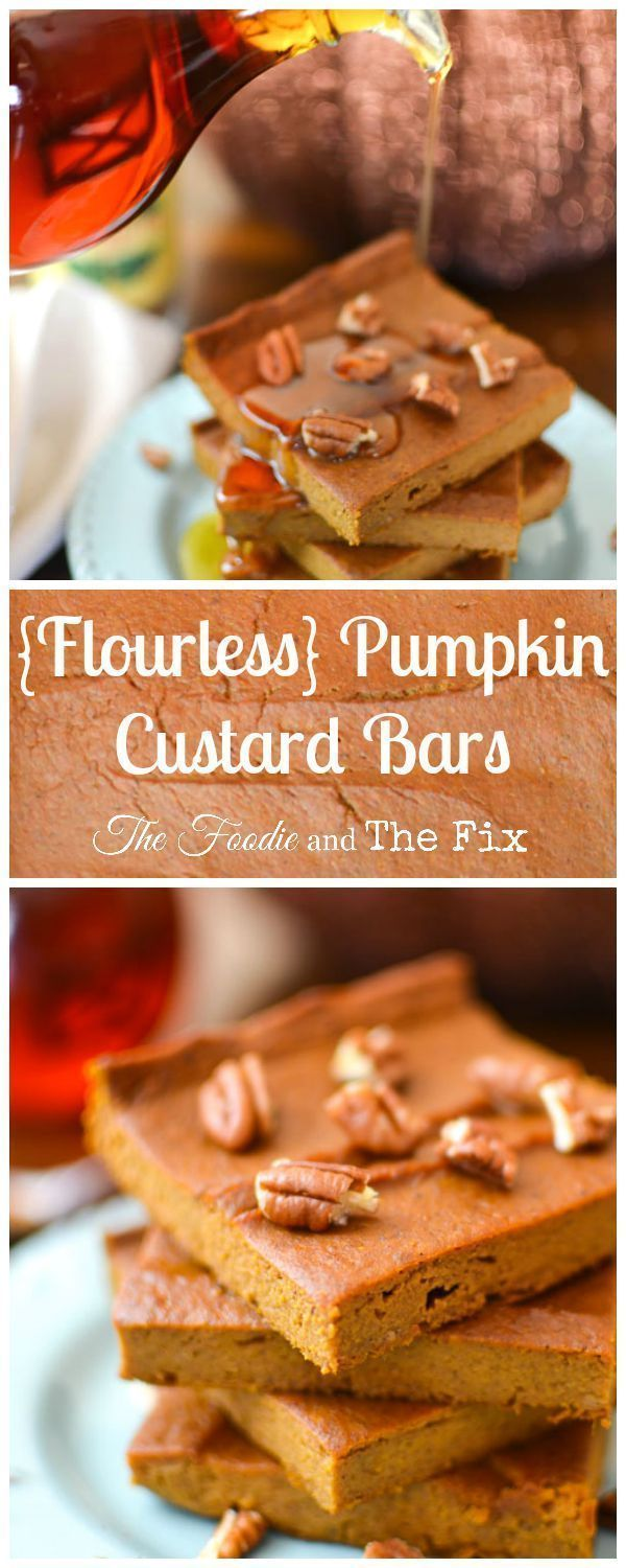 These healthy pumpkin bars are great as dessert or a sweet snack (I've even eaten them for breakfast!) Gluten-free, kid friendly! 21 Day Fix: 1 TSP