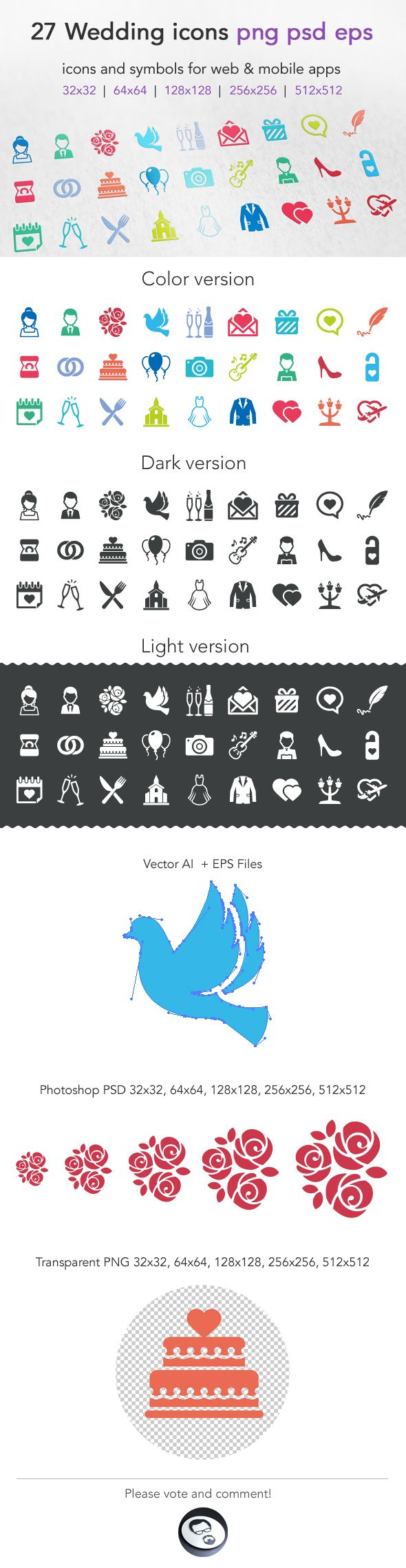 Wedding Icons by Ottoson, via Behance