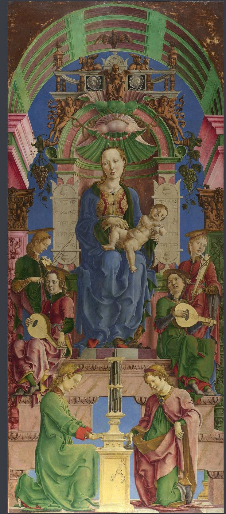 Cosimo Tura:  The Virgin and Child Enthroned  (mid-1470s)