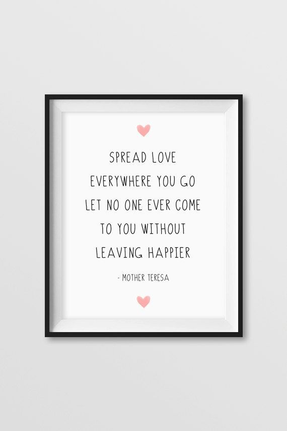Inspirational Quote Mother Teresa Love Printable Download