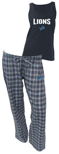 College Concepts Women's Detroit Lions Tank and Pajama Pants Set