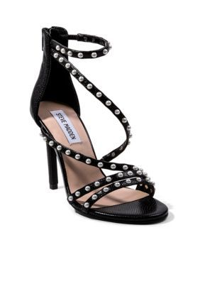 Steve Madden Women's Pearl Stud Dress Pump - Black Snake - 6.5M