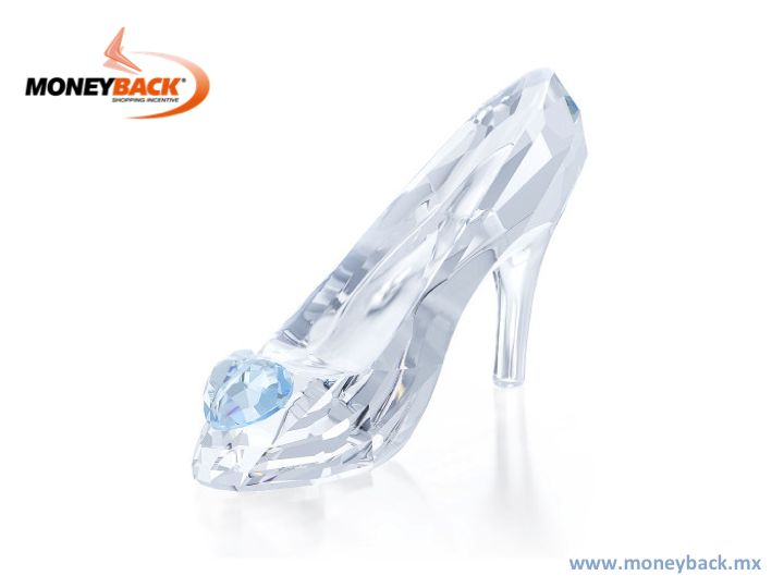 Inspired by the Disney's Cinderella fairytale, the design of this iconic shoe is perfectly crafted in clear crystal and embellished with a blue crystal heart. Visit Swarovski Mexico and get a tax refund on our module with your purchase ticket if you are a tourist from abroad. www.moneyback.mx  #moneyback