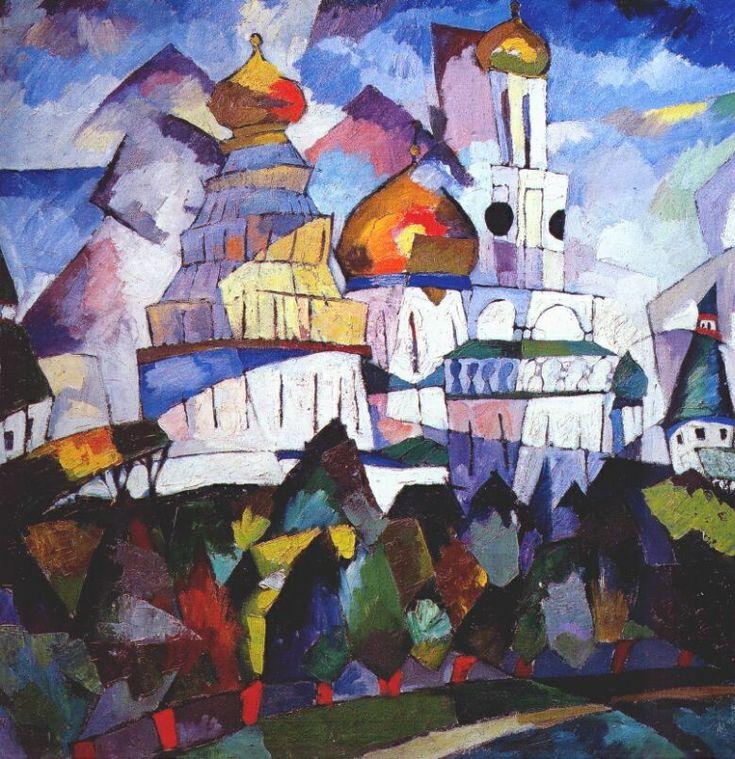 Churches, New Jerusalem by Aristarkh Lentulov #cubofuturism