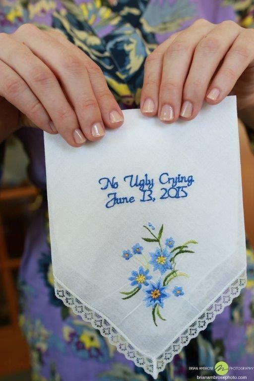 no ugly crying custom handkerchief