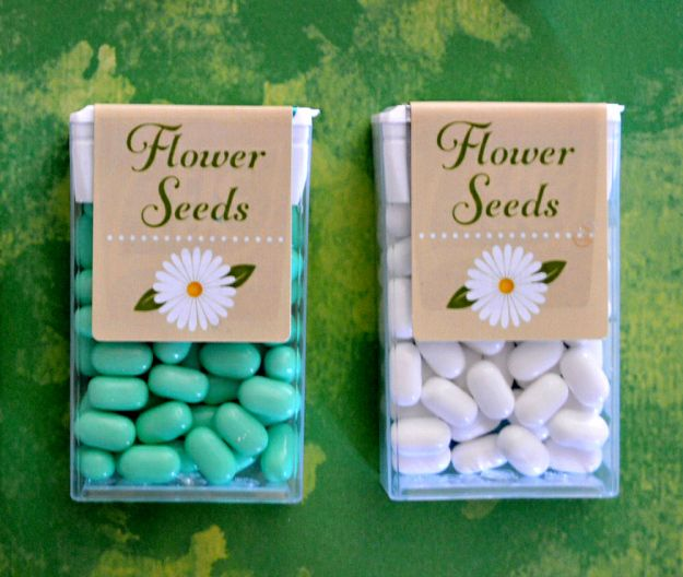Spring / flowers Tic Tac labels
