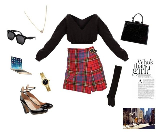 """""""Untitled #26"""" by sofiabaaima ❤ liked on Polyvore featuring Vivienne Westwood, Valentino, A Détacher, Tiffany & Co., Louis Vuitton, Brydge, CÉLINE and Tory Burch"""