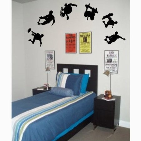 skateboard wall decal bedroom theme pinterest