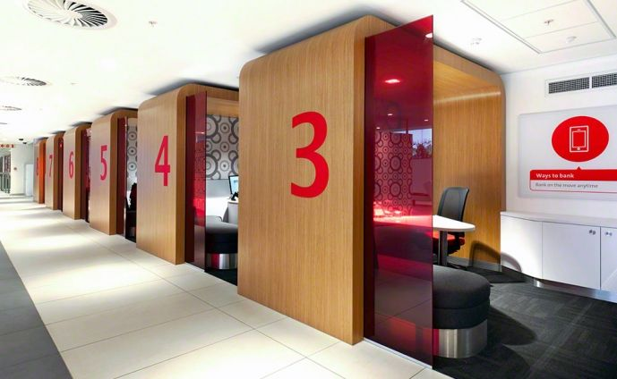 Individual Pods retail bank design absa 8 (Looks familiar to my senior  studio
