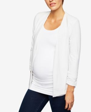 Tart Collections Maternity Open-Front Jacket - Blue M
