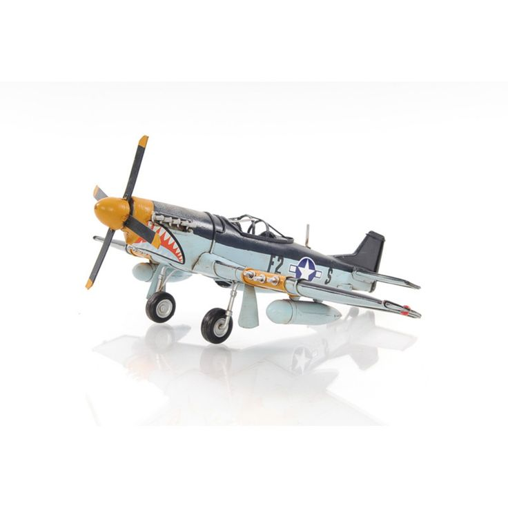 Old Modern Handicraft 1943 Grey Mustang P51 1:40 Model Plane - AJ003
