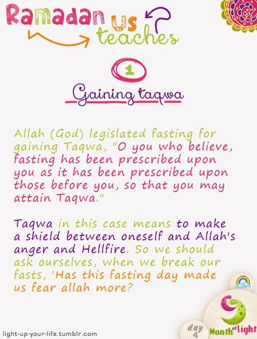 Month Of Light Ramadan teaches us! Lesson 1