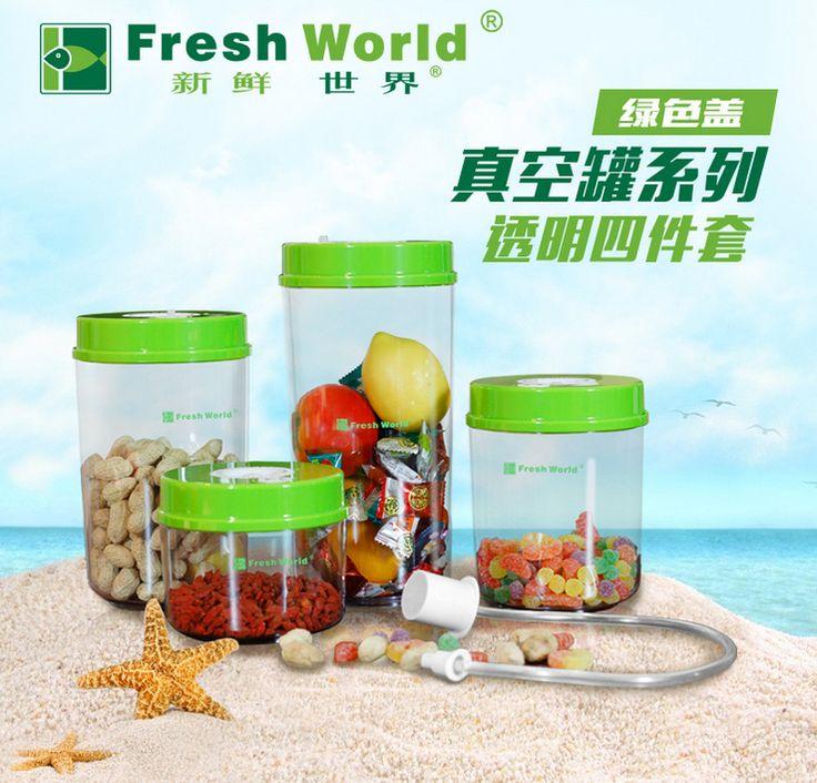 Fresh World Plastic Food Containers Storage Box Set For Food Packing Vacuum Sealer Machine China(2200ml , 1600ml, 1000ml, 700ml) //Price: $US $67.15 & FREE Shipping //     #kitchenappliances