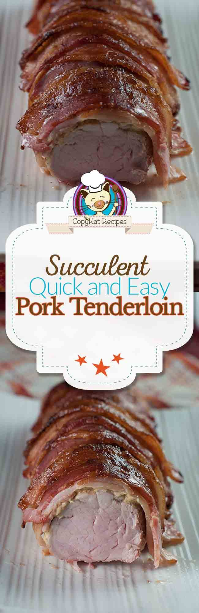 Pork Tenderloin is easy to prepare, and the bacon makes this easy.