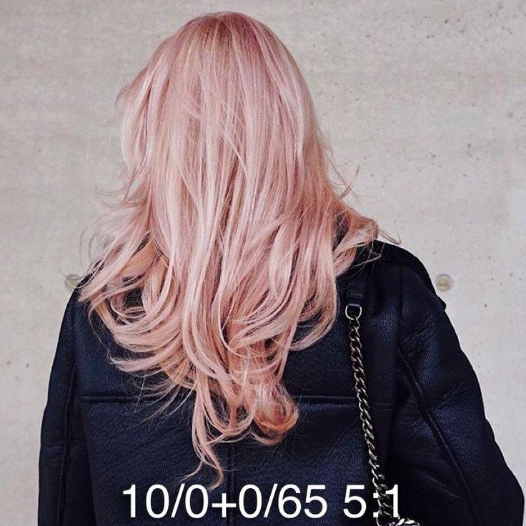 Pastel pink Wella color toner formula – #color #fo…