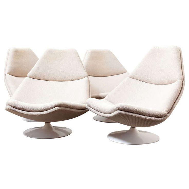 Wonderful Geoffrey Harcourt For Artifort Swivel Lounge Chair