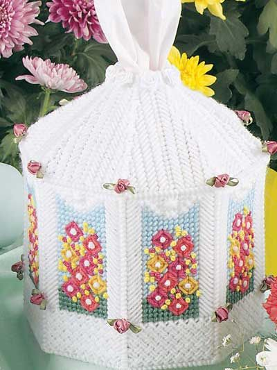 Rose Gazebo free plastic canvas pattern of the day from freepatterns.com 8/25/13