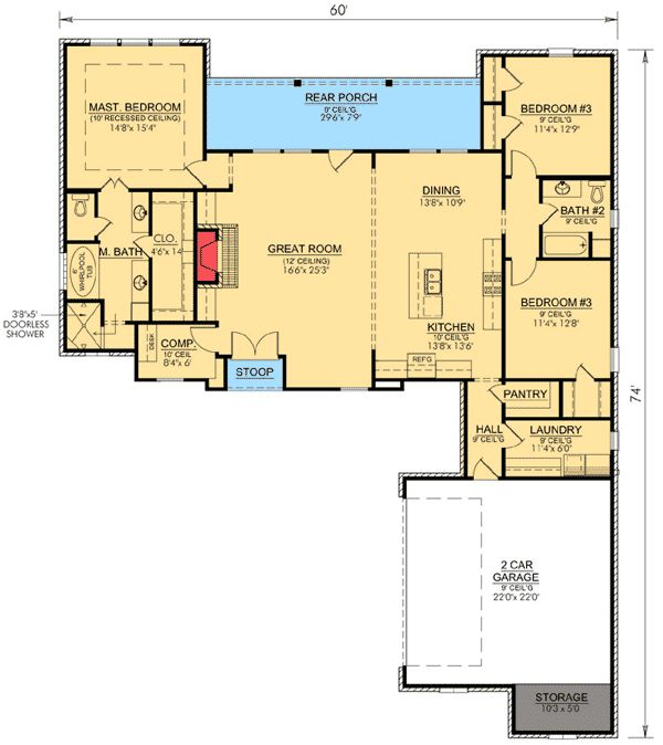 35 best images about house plans under 2000 sq ft on for Farmhouse plans under 2000 sq ft