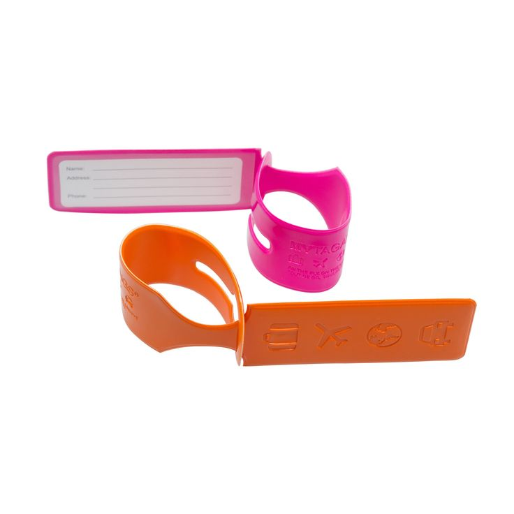 Luggage Loops - Icons set of two (Pink/Orange)