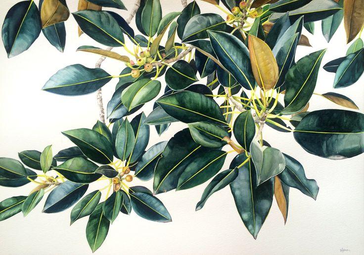 Pip Spiro watercolour 120cm x 74cm