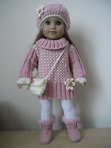 American girl/gotz hannah hand knitted dolls clothes