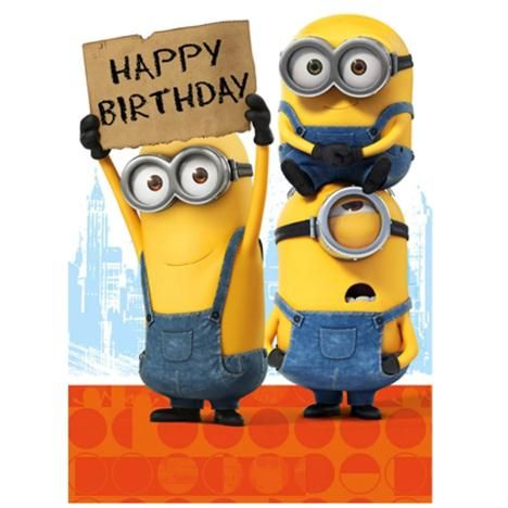 Happy Birthday Sign Minions Card #compartirvideos #imagenesdivertidas…                                                                                                                                                                                 Más