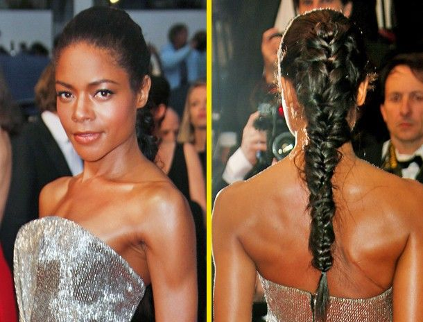 Rock a Messy French Braid: Naomie Harris glammed up her pretty plait by rocking it on the red carpet with a bit of messy edge. When it comes to braids, don't worry about every strand being perfectly in place. Let loose because unstructured braids are in!