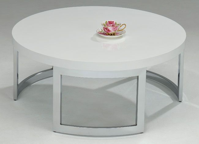 White Round Coffee Table   Overstock™ Shopping   Great Deals On Coffee,  Sofa U0026