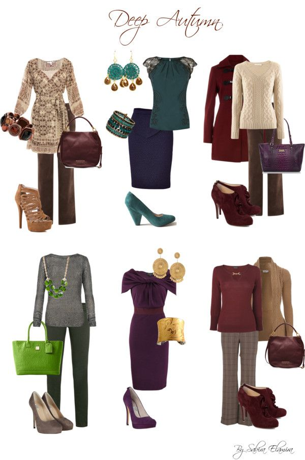 """Deep Autumn Looks"" by sabira-amira ❤ liked on Polyvore"